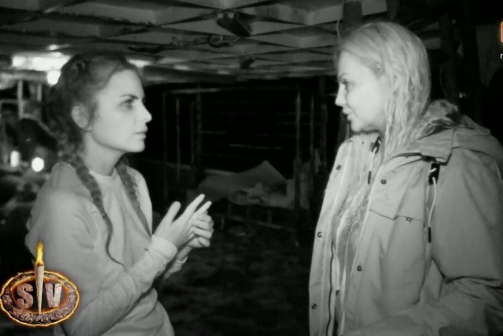 Alexia Rivas y Sylvia Pantoja discutiendo en 'Supervivientes 2021'