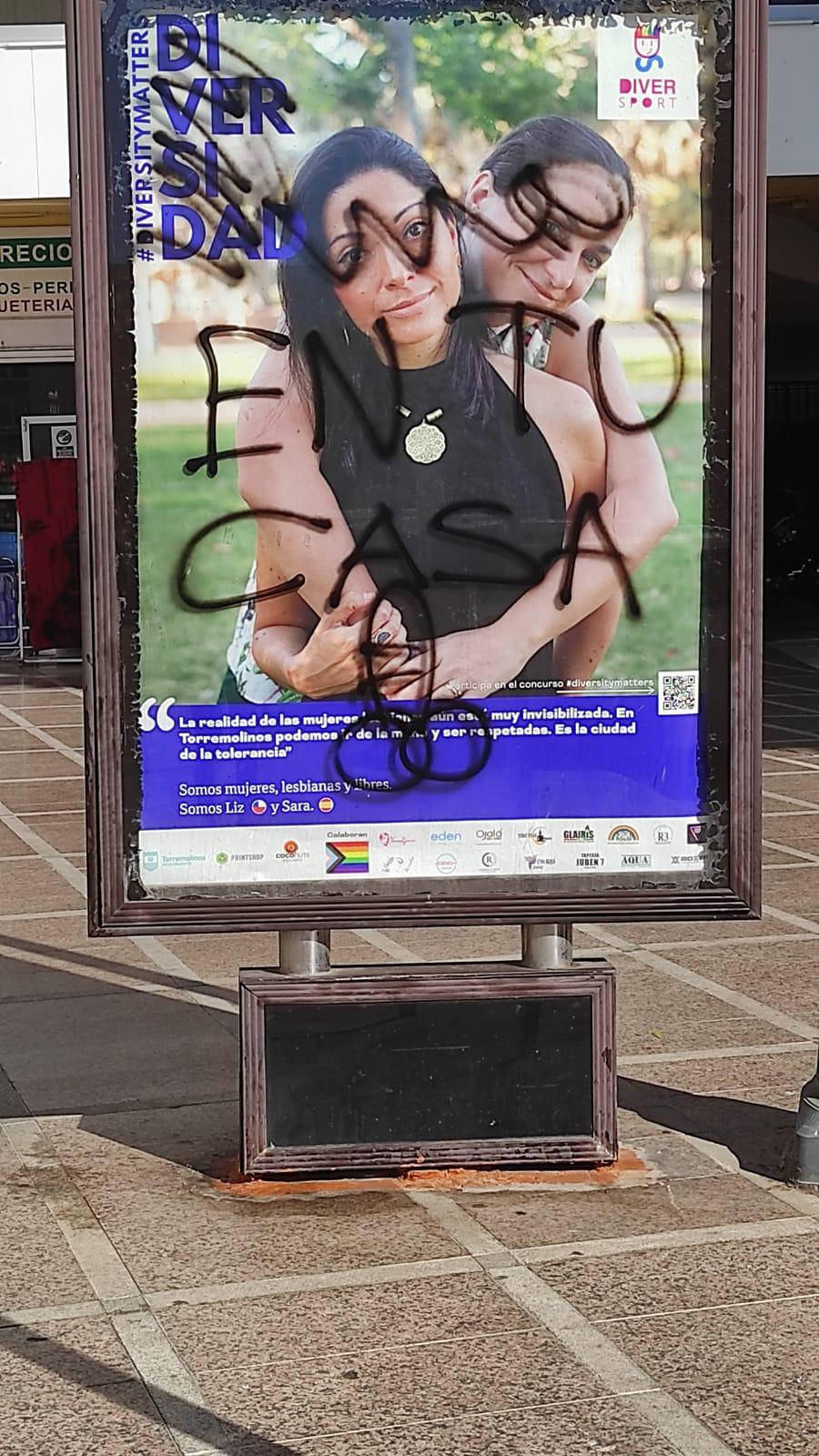 Ataque homófobo a campaña sobre la diversidad en Torremolinos